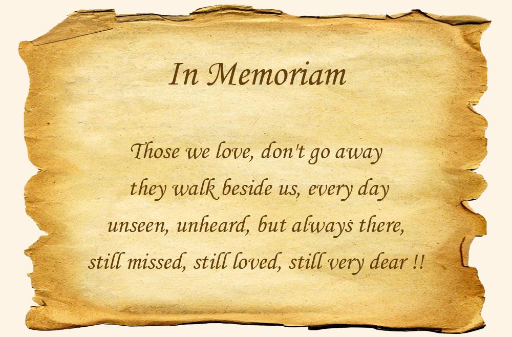 Kennel V H Aambeeld In Memoriam
